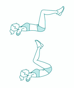 ćwiczenia na dolne partie brzucha 1